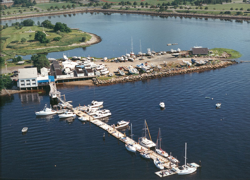 An Aerial View of The Savin Hill Yacht Club